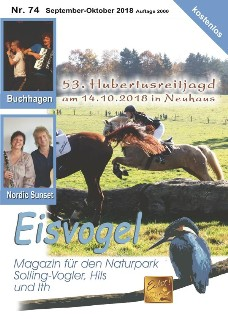 Eisvogel-Magazin Nr. 74 - September-Oktober 2018